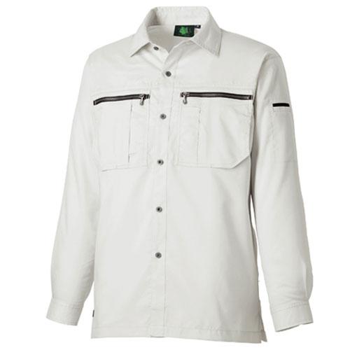 TAKA_TU8402 ドライ長袖シャツ[社名刺繍無料] 5/シルバー