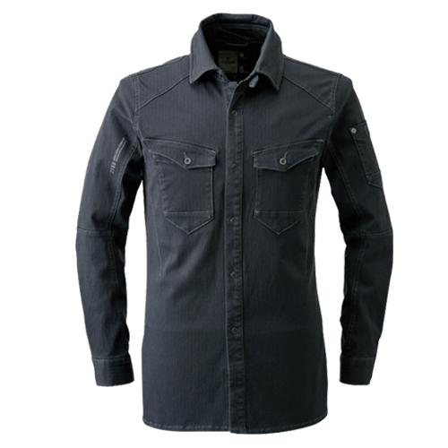 IZFRONTIER7161 ダブルアクティブワークシャツ[社名刺繍無料] 13/ディープグレー