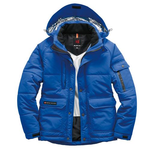 BURTLE7510 防寒ジャケット(大型フード付) 47/サーフブルー