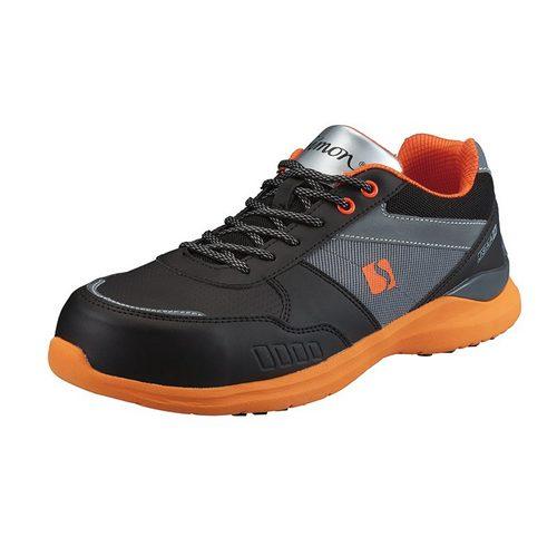 シモン安全靴 KL511 黒/オレンジ 軽技FLシリーズ 耐滑プロスニーカー