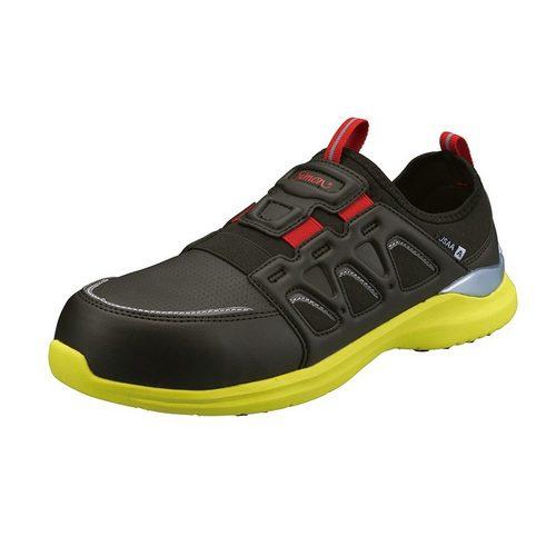 シモン安全靴 KL517 黒/イエロー 軽技FLシリーズ 耐滑プロスニーカー