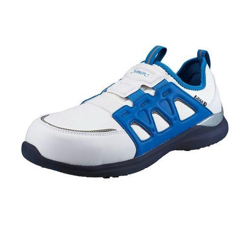 シモン安全靴 KL517 白/ブルー 軽技FLシリーズ 耐滑プロスニーカー