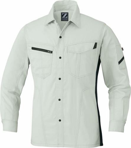DESK75504 Z-DRAGON製品静電長袖シャツ[社名刺繍無料] 017/アイボリー