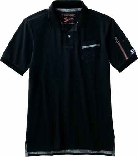 DESK55354 半袖ポロシャツ 044/ブラック