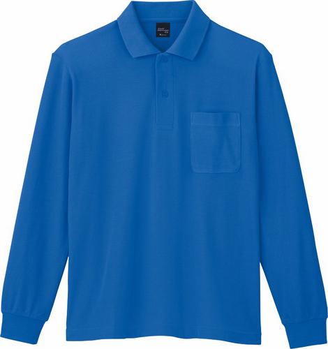 DESK85844 長袖ポロシャツ 005/ブルー