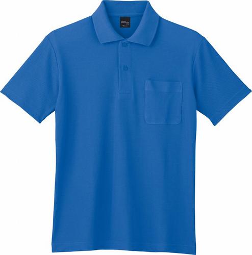 DESK85854 半袖ポロシャツ 005/ブルー
