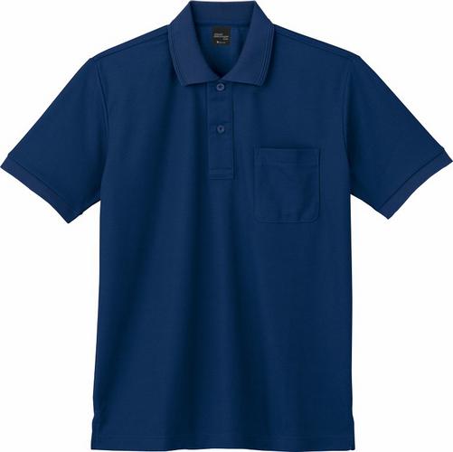 DESK85874 吸汗速乾半袖ポロシャツ 011/ネービー
