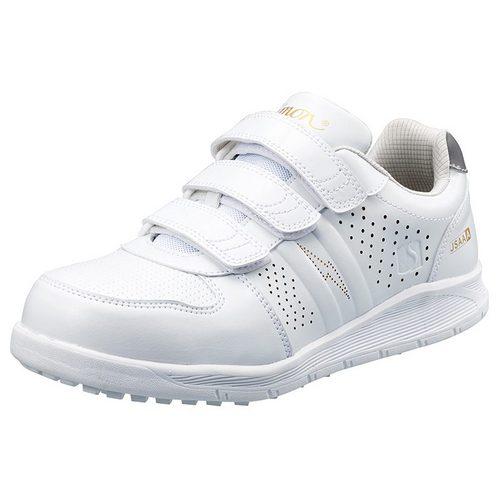 シモン安全靴 NS618 プロスニーカー(マジックタイプ) 白静電靴