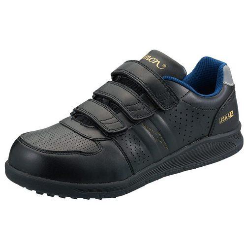 シモン安全靴 NS618 プロスニーカー(マジック) 黒静電靴