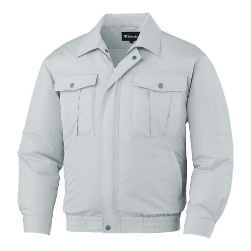 DESK87000_1 空調服長袖ブルゾン[社名刺繍無料] 036/シルバー