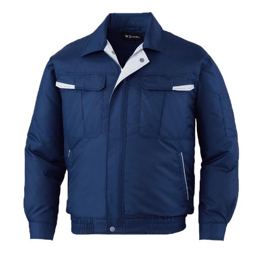 DESK87010_1 空調服長袖ブルゾン[社名刺繍無料] 011/ネービー
