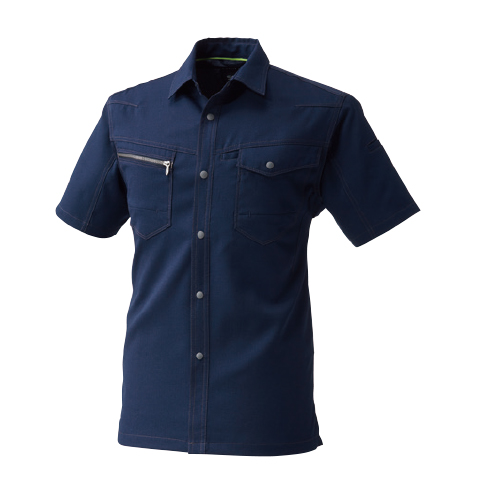 SOWA967 半袖シャツ[社名刺繍無料] 1/ネイビー