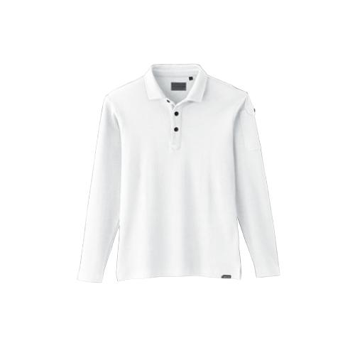 SOW50710 長袖ポロシャツ(胸ポケット有り) 0/ホワイト