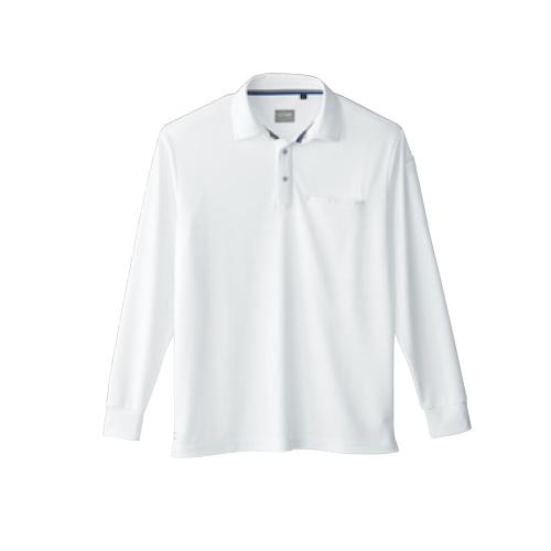 SOW50720 桑和作業服50720 定番の鹿の子ポロシャツ 0/ホワイト
