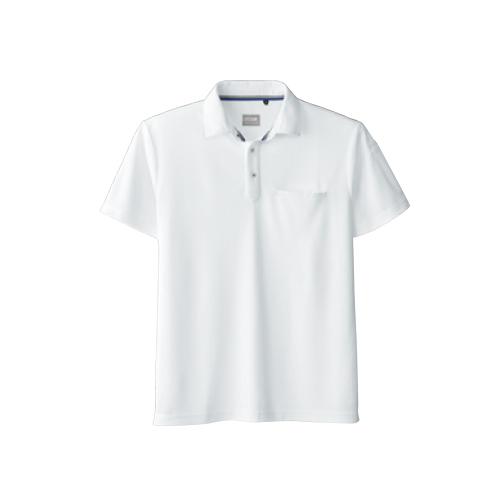 SOW50727 定番の鹿の子半袖ポロシャツ 0/ホワイト