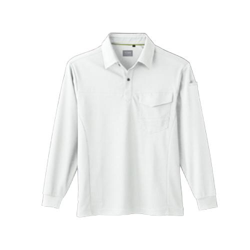 SOW50960 長袖ポロシャツ(胸ポケット有り) 0/ホワイト