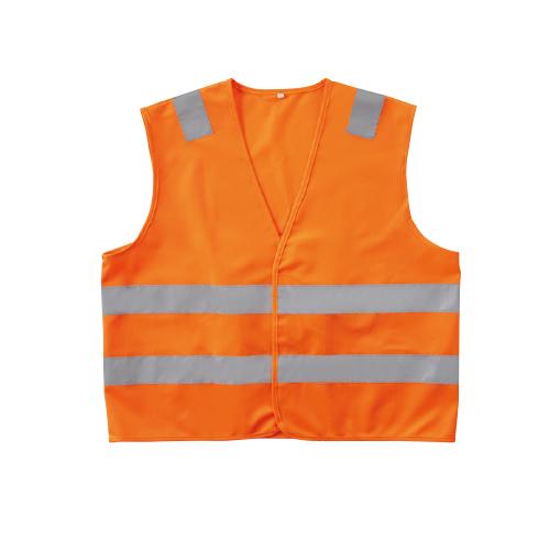 SOWA80001 高視認性安全服!JIS T8127規格!ENベスト ポケッタブル 75/蛍光オレンジ