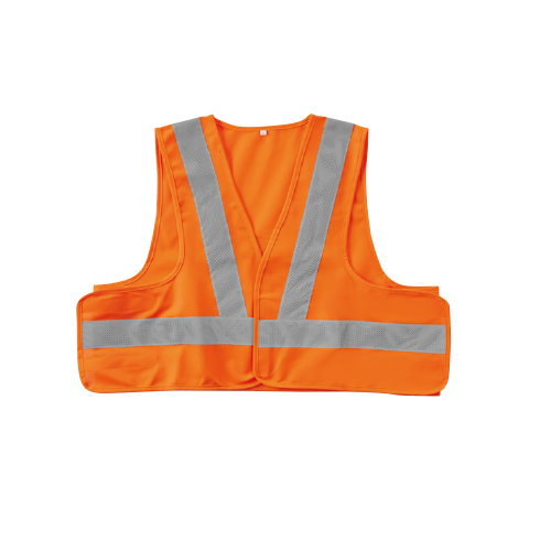 SOWA80002 高視認性安全服!JIS T8127規格!短丈ベスト 75/蛍光オレンジ