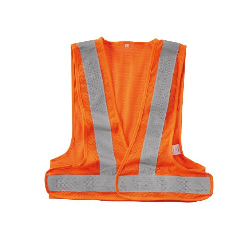 SOWA80005 高視認性安全服!JIS T8127規格!スポーツメッシュベスト 75/蛍光オレンジ