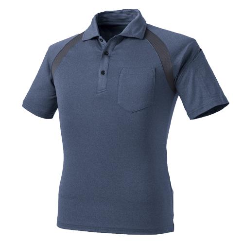 CUC1621 クールメッシュ半袖杢ポロシャツ 120/杢コン ※切り替え部分チャコールグレー