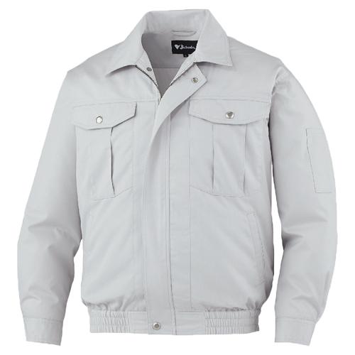 DESK87030_1 空調服長袖ブルゾン[社名刺繍無料] 036/シルバー