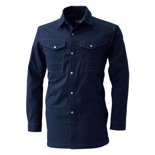 SOWA545_1 長袖シャツ[社名刺繍無料] 1/ネイビー