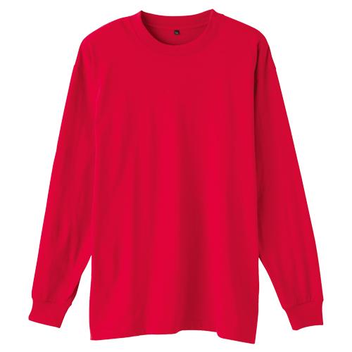 SOWA5015-62 長袖Tシャツ(胸ポケット無し) 43/レッド