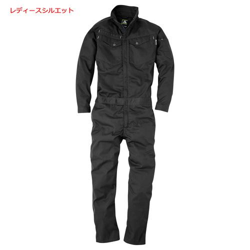 CUC2004 コスパレディース長袖ツナギ 19/クロ
