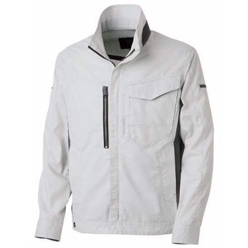 TAKA_TW-S120 ジャケット[社名刺繍無料] 3/シルバー(配色:ガンメタル)