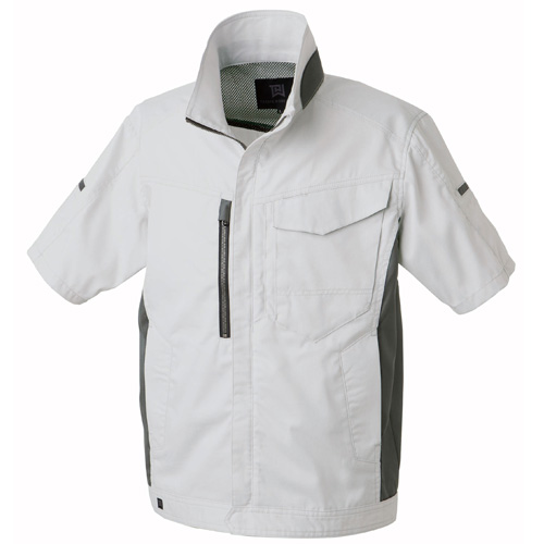 TAKA_TW-S140 半袖ジャケット[社名刺繍無料] 3/シルバー