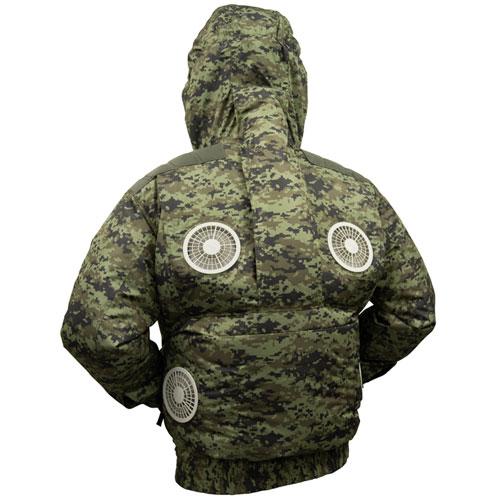 剛肩フード4ファンブルゾン[社名刺繍無料]+ファンセット(x2セット)+リチウムイオンバッテリーセット(x2セット)★届いたその日から使えるセット
