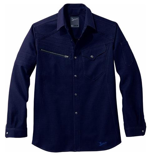 DESK52704 Jawinストレッチ長袖シャツ[社名刺繍無料] 011/ネービー