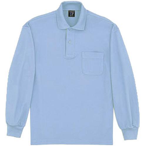 DESK47604 長袖ポロシャツ カラー:サックス