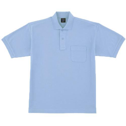 DESK47614 半袖ポロシャツ カラー:サックス
