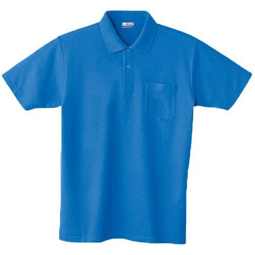 DESK24404 半袖ポロシャツ カラー:ブルー
