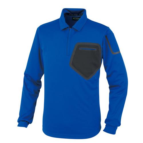 OKW59604 長袖ポロシャツ 3/ブルー