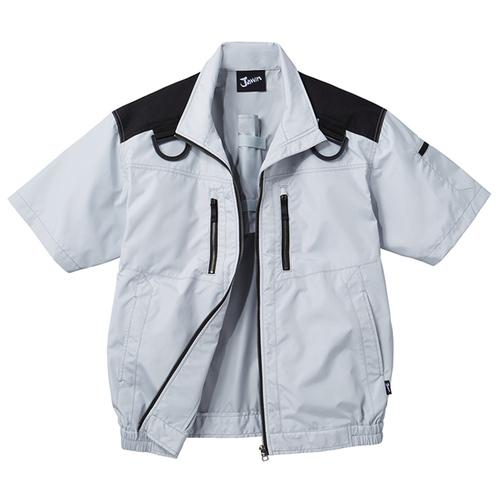DESK54090 空調服半袖ブルゾン[社名刺繍無料] 036/シルバー