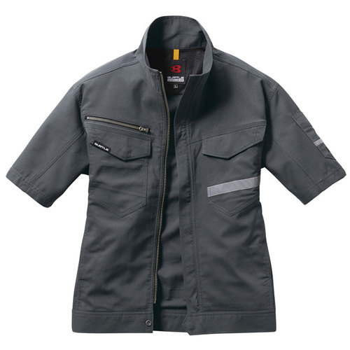 BURTLE9096 半袖ジャケット(ユニセックス)[社名刺繍無料] 34/バイパー