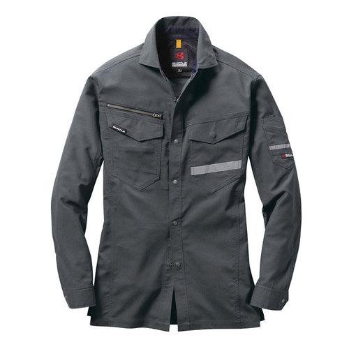 BURTLE9095 長袖シャツ(ユニセックス)[社名刺繍無料] 34/バイパー
