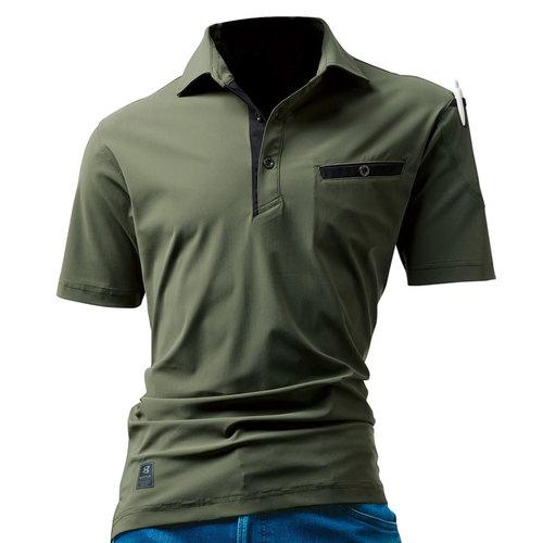 BURTLE227 半袖アイスポロシャツ(ユニセックス) 14/ミルスグリーン
