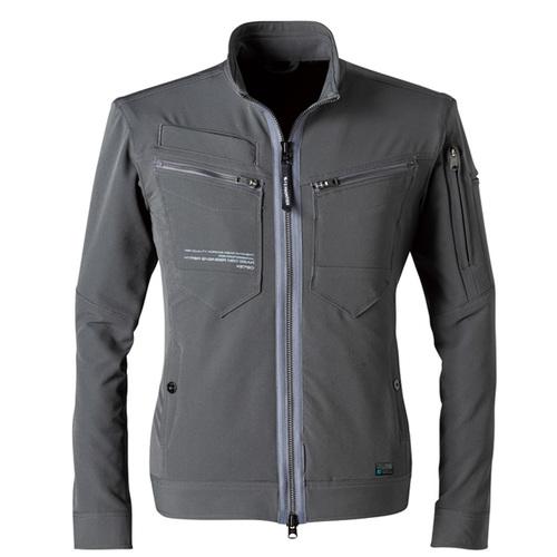 IZFRONTIER3790 2WAYストレッチワークジャケット[社名刺繍無料] 04/チャコールグレー