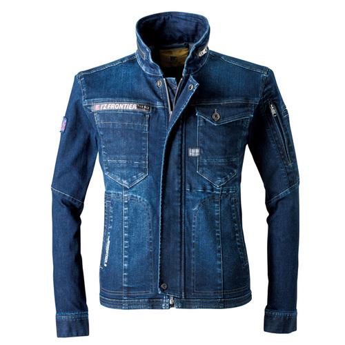 IZFRONTIER7260 ストレッチ3Dワークジャケット[社名刺繍無料] 11/インディゴブルー