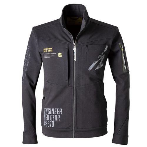 IZFRONTIER5370_J ヘビージャージワークジャケット[社名刺繍無料] 05/ブラック