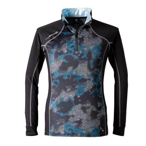 IZFRONTIER9201 発熱ジップアップシャツ 83/ブラーブラック
