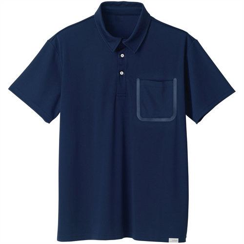 SOWA8005-51 半袖ポロシャツ(胸ポケット付き) 1/ネイビー