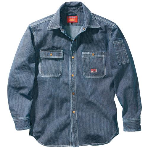 CUC8111 DOGMAN長袖シャツ[社名刺繍無料] 17/インディゴブルー