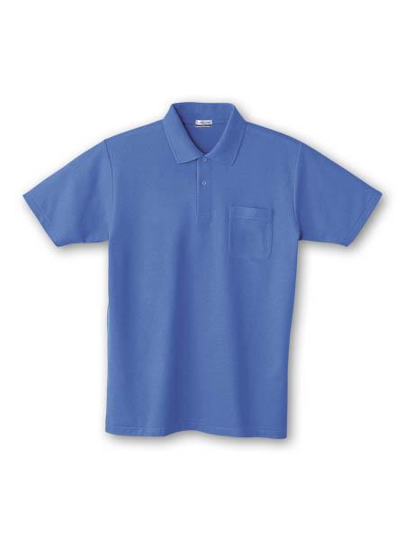 DESK24404 半袖ポロシャツ 005/ブルー