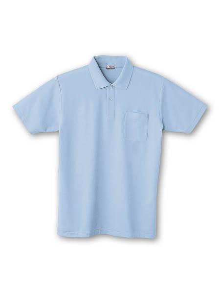 DESK24404 半袖ポロシャツ 016/サックス