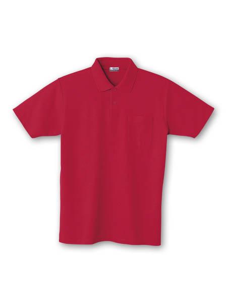DESK24404 半袖ポロシャツ 043/レッド
