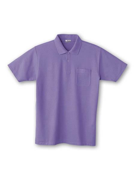 DESK24404 半袖ポロシャツ 086/パープル